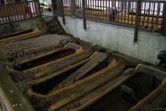 Boote der Wildwasserbahn