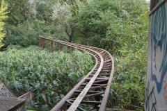 Gleise der Achterbahn