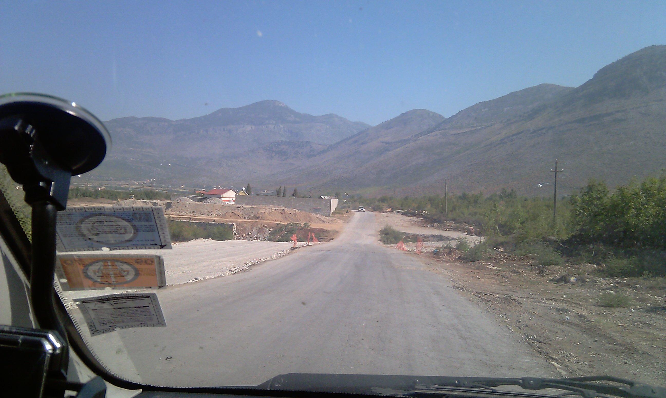 Bild 5: Die E762 in Albanien