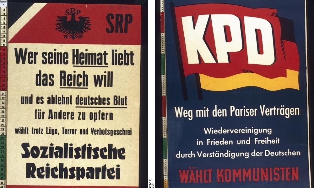 Bisher wurden in der Bundesrepublik erst zwei Parteien verboten